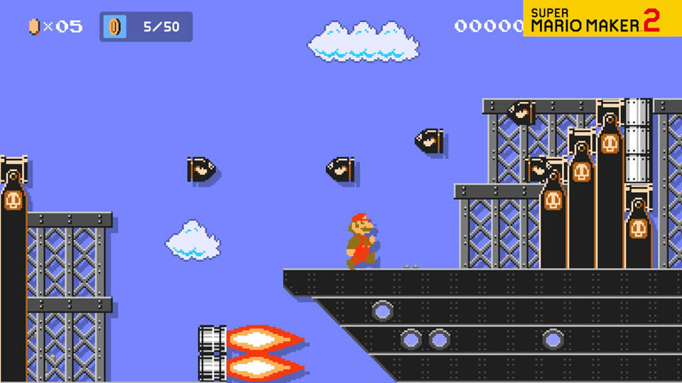 A video of Mario running across an Airship course.