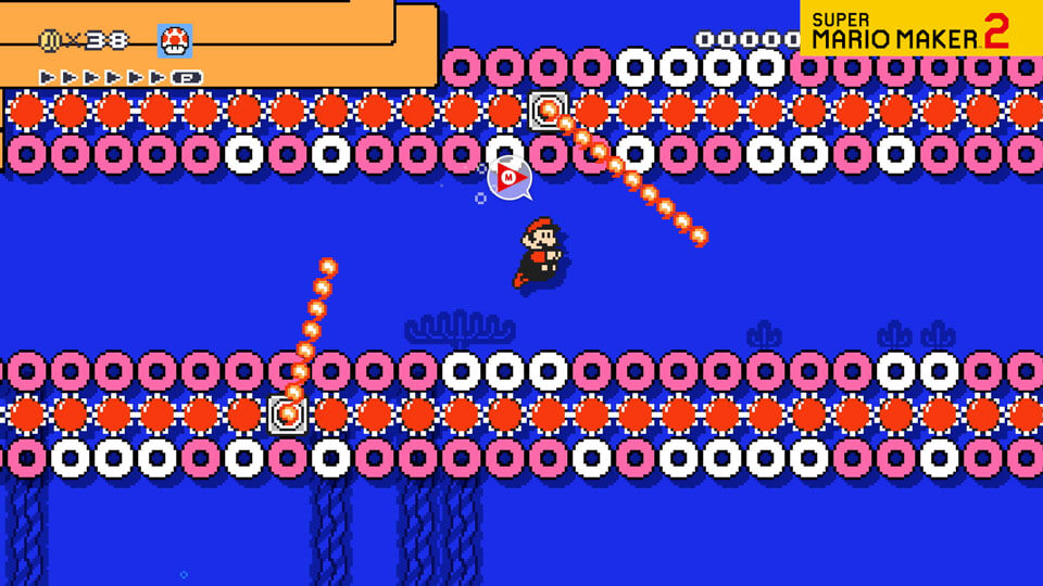 A video of Mario swimming through an Underwater course.